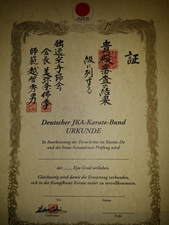 Stolze Prüflinge Im Karate Dojo Ochi Hennef